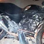 Salah satu sepeda motor yang terlibat kecelakan di Jalan Raya Dusun/Desa Bandung, Kacamatan Diwek, Kabupaten Jombang, Jawa Timur, Selasa (26/5/2019) malam.