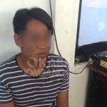 Tersangka penjambretan saat diamankan di Polres Jombang.