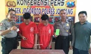 Dua tersangka pil koplo di Polsek Jogoroto Jombang