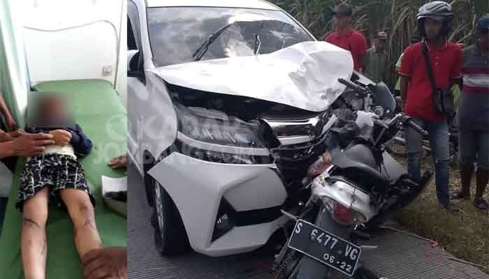 Kondisi pasca kecelakaan di Jalan Raya Desa Ngampel, Kecamatan Ngusikan, Kabupaten Jombang, pada Sabtu (1/6/2019), sebelum dievakuasi petugas.