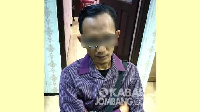 Tersangka pencabulan di Polres Jombang