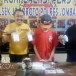 Tersangka pil koplo di Polsek Jogoroto Jombang