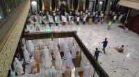 Ilustrasi: Pelaksaan salat tarawih di Masjid Agung Baitul Mukminin Jombang, di malam 1 Ramadan 1441 H. KabarJombang.com/Dok/