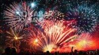 Ilustrasi perayaan pergantian malam Tahun Baru masehi.