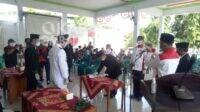 Prosesi pelantikan Sekdes Turipinggir Kecamatan Megaluh Kabupaten Jombang, Kamis (14/1/2021). KabarJombang.com/Diana Kusuma N/