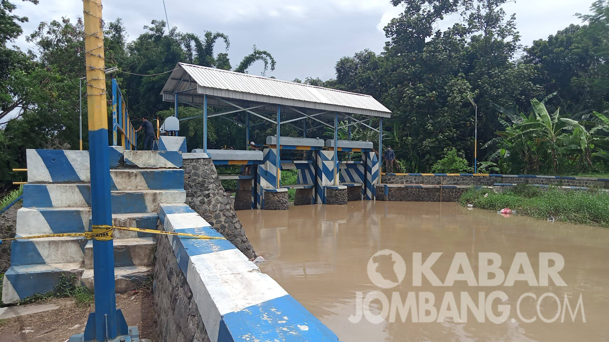 Dam Jetis Mancilan Mojoagung lokasi anak tenggelam. KabarJombang.com/Daniel Eko/