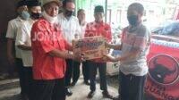 Bantu Korban Banjir Mojoagung, DPC PDIP Jombang Bantu Kirim Sembako