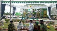 Peresmian monumen lambang NU terbesar di dunia di kantor PCNU Kabupaten Jombang, Minggu (28/2/2021). KabarJombang.com/Diana Kusuma Negara/