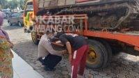 Polisi melakukan olah TKP kecelakaan di Tembelang Jombang, Selasa (30/3/2021). Kabarjombang.com/Diana Kusuma Negara/