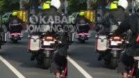 Tangkapan layar konvoi moge lawan arus di depan pos polisi ringin contong Jombang.