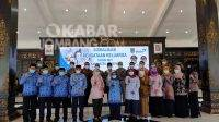 Bupati Jombang Mundjidah Wahab usai launching Program Pendataan Keluarga 2021.