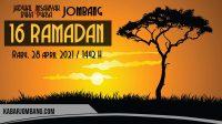 jadwal imsak dan buka puasa jombang 16 ramadan 2021