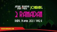 jadwal imsak dan buka puasa jombang 2 ramadan 2021