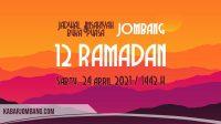 jadwal imsak dan maghrib jombang hari ini 12 ramadan 2021