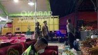 Pertunjukan wayang kulit saat hajatan Kepala Desa Sebani, Kecamatan Sumobito dibubarkan aparat kepolisian. Kabarjombang.com/Istimewa/