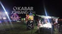 Pasar malam di Lapangan Kecamatan Mojowarno, Kabupaten Jombang. Kabarjombang.com/Daniel Eko/