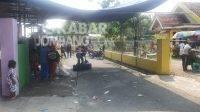 Lokasi jaranan di Dusun Sukaharjo, Desa Sumberbendu, Kecamatan Mojowarno, Kabupaten Jombang, dibubarkan aparat kepolisian setempat para, Jumat (21/5/2021). KabarJombang.com/Diana Kusuma/