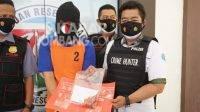 AR, pelaku penyeludupan sabu di dalam cabai ke Lapas Jombang. KabarJombang.com/Muji Lestari/