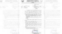 Surat pemberitahuan Pemkab Jombang terkait tindak lanjut sanksi administratif vaksinasi.