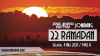 jadwal imsak dan buka puasa jombang 22 ramadan 2021