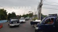 Kepadatan kendaraan terjadi di arah Ploso, Jombang, Senin (24/5/2021). KabarJombang.com/Diana Kusuma/