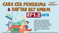 CARA Cek Penerima & Syarat Daftar BLT UMKM Rp1,2 Juta