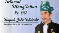 Presiden Jokowi ulang tahun ke-60.