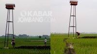 Kondisi rubuha di Ploso, Jombang, terlihat sudah doyong atau miring. KabarJombang.com/Slamet Wiyoto/