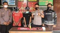 Kakak beradik pengedar sabu diamankan di Polsek Mojowarno Jombang. KabarJombang.com/Istimewa/