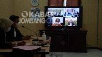 Sidang putusan Kiai cabul digelar secara virtual. Kabarjombang.com/Diana Kusuma/