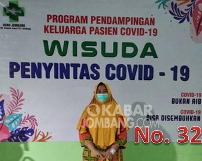 Wisuda penyintas covid-19 di RSNU Kabupaten Jombang. Kabarjombang.com/Istimewa/