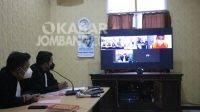 Proses sidang terdakwa narkoba jaringan internasional di Jombang, Rabu (28/7/2021). KabarJombang.com/Istimewa/