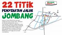 Infografis 22 Titik Penyekatan Jalur di Jombang