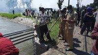 Lokasi penemuan dua mayat bayi di sungai Glagahan Kecamatan Perak, Kabupaten Jombang, Senin (5/7/2021). KabarJombang.com/M Faiz H/