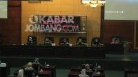 Rapat Paripurna DPRD Jombang terkait penyampaian nota penjelasan Raperda P-APBD dan dua Raperda oleh Bupati Mundjidah Wahab, Senin (9/8/2021). KabarJombang.com/Daniel Eko/