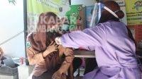 Semarak Hari Pramuka, Pelajar di Jombang Antusias Jalani Vaksinasi Covid-19
