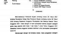 Seragam Gratis, Pemkab Jombang, Jombang, Refocusing, Dindikbud Jombang, DPRD Jombang