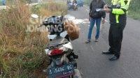 Gagal Mendahuli, Pemotor Tewas di Jalan Raya Desa Janti Jombang