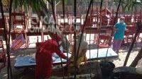 Rumah sehat untuk isolasi terpusat pasien covid-19 di Kabupaten Jombang.