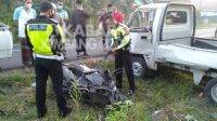 Kecelakaan di Jalan Raya Ngampel, Desa Gajah Kecamatan Ngoro.