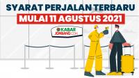 Infografis Syarat Perjalanan Terbaru Mulai 11 Agustus 2021