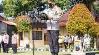 Kapolres Jombang, AKBP Agung Setyo Nugroho saat memimpin sertijab Kapolsek dan Kasat, Rabu (8/9/2021). KabarJombang.com/Istimewa/