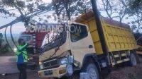 Kecelakaan di Jalan Raya Adi Sucipto Desa Denanyar, Kecamatan/Kabupaten Jombang, Kamis (23/9/2021).KabarJombang.com/istimewa/