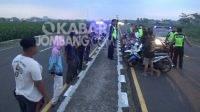 Belasan pemuda diamankan polisi saat razia balap liar di Mojoagung, Jombang, Minggu (26/9/2021) petang.