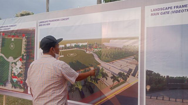 Desain proyek rehabilitasi alun-alun Jombang. KabarJombang.com/Daniel Eko/