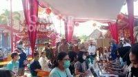 Warga Tionghoa mengikuti vaksinasi di Klenteng Hok Liong Kiong, Senin (6/9/2021). KabarJombang.com/M Faiz H/