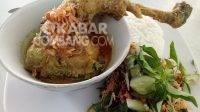 Seporsi kuliner ayam lodho Kedai Asri di Jalan Adityawarman, 41,Jombang. KabarJombang.com/Diana Kusuma/