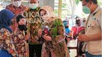 Bupati Mundjidah Wahab Terima Instalasi Seni Kampanye 3M Anak Desa Tanjung Wadung Kabuh
