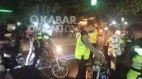 Razia knalpot brong di Jombang, Sabtu (9/10/2021) malam. KabarJombang.com/M Faiz H/