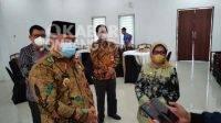 Bupati Jombang Mundjidah Wahab, pada Selasa (28/9/2021) pagi, menerima kunjungan Wakil Walikota Pekalongan, Salahudin.